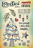 Paper Artsy - Eclectica Cling Mounted Rubber Stamps - Darcy Set 04