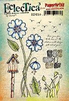 Paper Artsy - Eclectica Cling Mounted Rubber Stamps - Darcy Set 10
