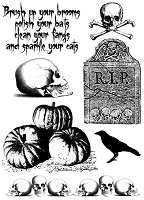 Paper Artsy - Cling Mounted Rubber Stamp Set - Hot Picks Halloween Set 03