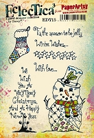 Paper Artsy - Eclectica Cling Mounted Rubber Stamps - Darcy Set 15