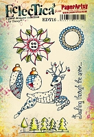 Paper Artsy - Eclectica Cling Mounted Rubber Stamps - Darcy Set 16