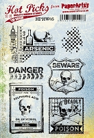 Paper Artsy - Cling Mounted Rubber Stamp Set - Hot Picks Halloween 05