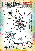Paper Artsy - Eclectica Cling Mounted Rubber Stamps - Kay Carley Set 04
