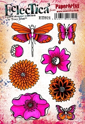 Paper Artsy - Eclectica Cling Mounted Rubber Stamps - Tracy Scott 21