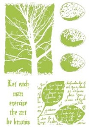 Paper Artsy - Cling Mounted Rubber Stamp Sets - Nature 3