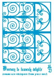 Paper Artsy - Cling Mounted Rubber Stamp Sets - Wrought Iron 2