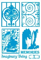 Paper Artsy - Cling Mounted Rubber Stamp Sets - Wrought Iron 4