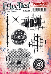 Paper Artsy - Eclectica Cling Mounted Rubber Stamps - Seth Apter Set 15