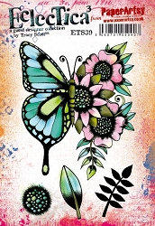 Paper Artsy - Eclectica Cling Mounted Rubber Stamps - Tracy Scott Set 39