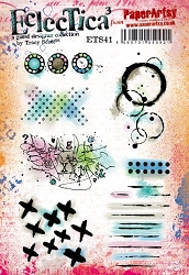 Paper Artsy - Eclectica Cling Mounted Rubber Stamps - Tracy Scott Set 41