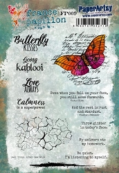 Paper Artsy - Cling Mounted Rubber Stamps - France Papillon Set #009