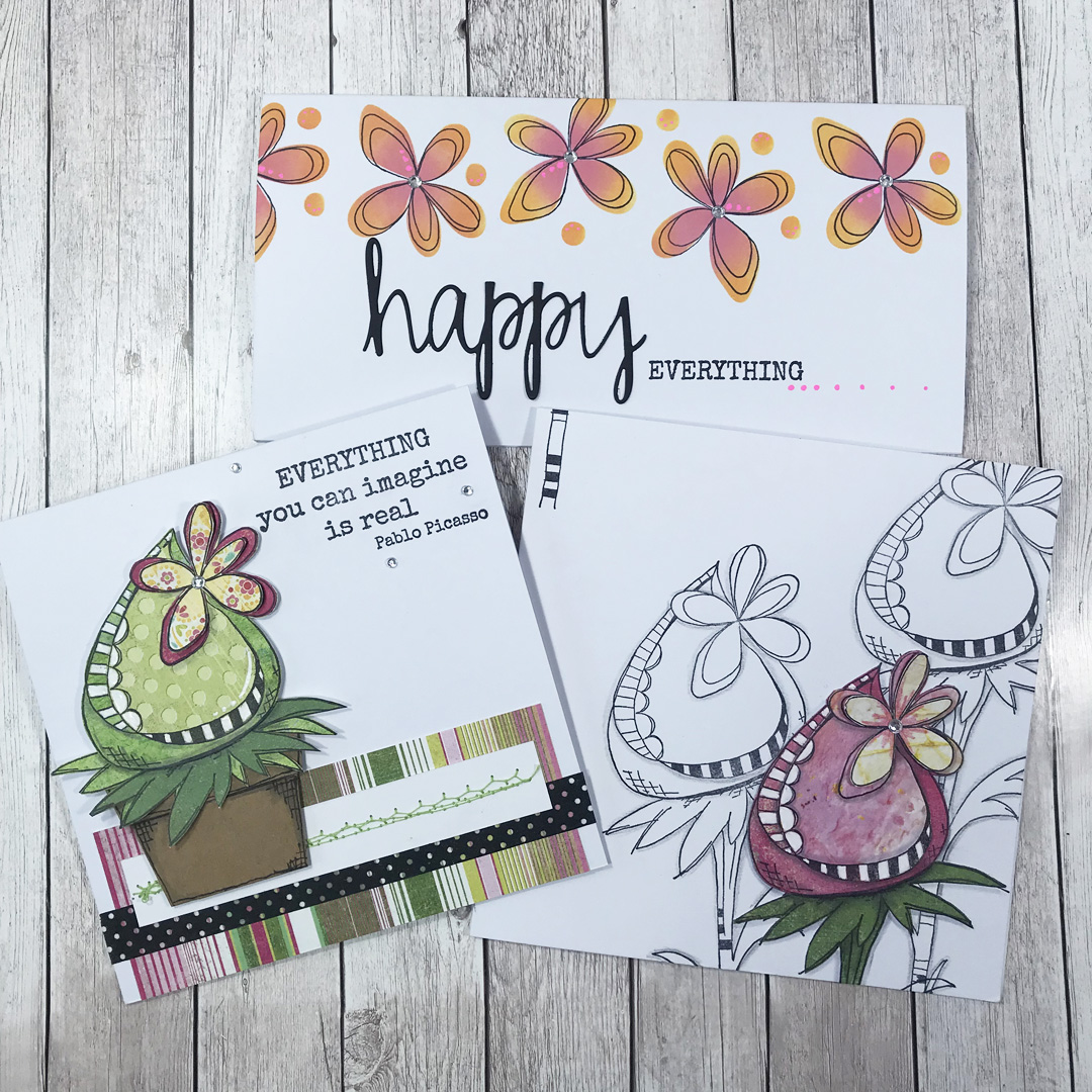 Paper Artsy - August JOFY stamps and stencils
