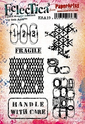 Paper Artsy - Eclectica Cling Mounted Rubber Stamps - Seth Apter Set 19