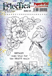 Paper Artsy - Eclectica Cling Mounted Rubber Stamps - Scrapcosy 19