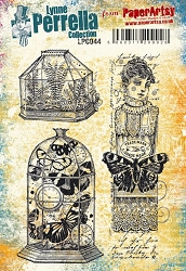 Paper Artsy - Lynne Perrella Cling Mounted Rubber Stamp Set 044