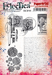 Paper Artsy - Eclectica Cling Mounted Rubber Stamps - Courtney Franich Set 09
