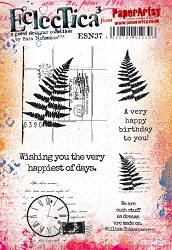 Paper Artsy - Eclectica Cling Mounted Rubber Stamps - Sara Naumann #37