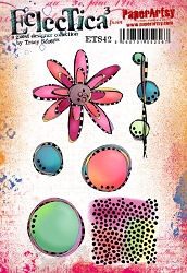 Paper Artsy - Eclectica Cling Mounted Rubber Stamps - Tracy Scott Set 42