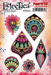 Paper Artsy - Tracy Scott Set 45 Cling Mounted Rubber Stamps