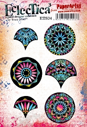 Paper Artsy - Eclectica Cling Mounted Rubber Stamps - Tracy Scott 34
