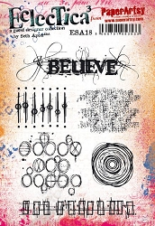 Paper Artsy - Eclectica Cling Mounted Rubber Stamps - Seth Apter Set 18