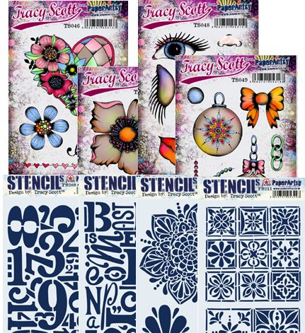 Paper Artsy - Tracy Scott Stamps and Stencils