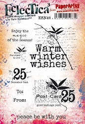 Paper Artsy - Eclectica Cling Mounted Rubber Stamps - Sara Naumann #40