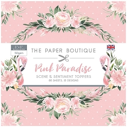 The Paper Boutique - Pink Paradise Collection - 5x5 Scene & Sentiment Toppers