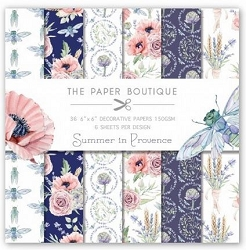 The Paper Boutique - Summer In Provence Collection - 6x6 decorative paper pad