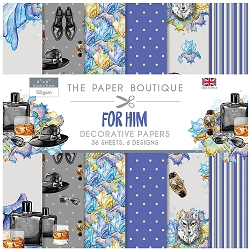 The Paper Boutique - For Him Collection - 6x6 decorative paper pad