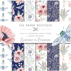 The Paper Boutique - Summer In Provence Collection - 8x8 decorative paper pad