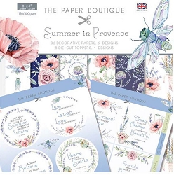 The Paper Boutique - Summer In Provence Collection - 8x8 paper Kit