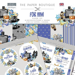 The Paper Boutique - For Him Collection - 8x8 paper Kit