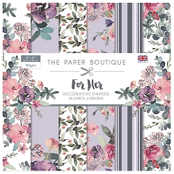 The Paper Boutique - For Her Collection - 8x8 decorative paper pad