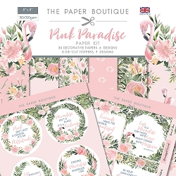 The Paper Boutique - Pink Paradise Collection - 8x8 paper Kit
