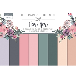 The Paper Boutique - For Her Collection - A4 Coloured Card Collection