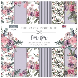 The Paper Boutique - For Her Collection - 12x12 decorative paper pad