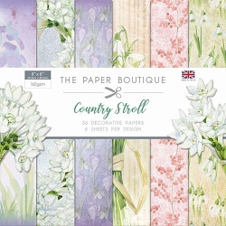 The Paper Boutique - Country Stroll Collection - 8x8 decorative paper pad