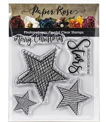 Paper Rose - Clear Stamp - Scribble Stars