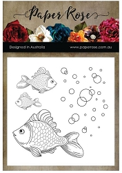 Paper Rose - Clear Stamp - Fish & Bubbles