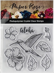 Paper Rose - Clear Stamp - Hummingbird Garden