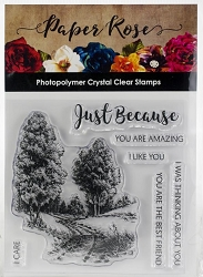Paper Rose - Clear Stamp - Into the Woods