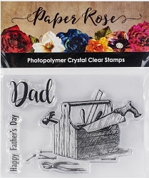 Paper Rose - Clear Stamp - Dad's Toolbox