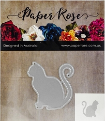 Paper Rose - Cutting Die - Sitting Cat Large