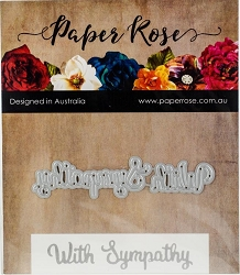Paper Rose - Cutting Die - With Sympathy Small