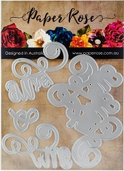 Paper Rose - Cutting Die - Mr & Mrs