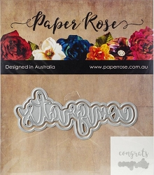 Paper Rose - Cutting Die - Congrats Layered