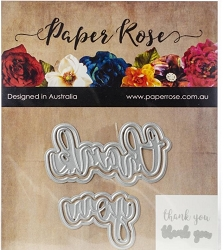 Paper Rose - Cutting Die - Thank You Layered
