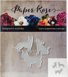 Paper Rose - Cutting Die - Three Little Dogs
