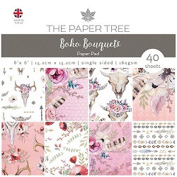 The Paper Tree - Boho Bouquets Collection - 6x6 decorative paper pad